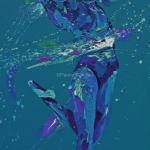 Blue Elegance. Oil on Canvas 45x 100cm. £1950