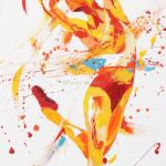 SOLD. White Heat. Oil on Canvas 45 x100cm £1950.