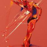 SOLD. Dashing Dance. Oil on Canvas 55x100cm £1950