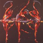 The Dance. Oil on Canvas 180x180cm .NFS