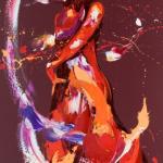 Hula. Oil on Canvas 60x120cm