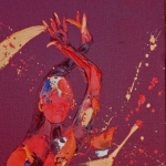 FLAIR. Oil on Canvas 45x85 £1650