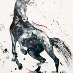 SOLD.  Agitato.Fervour. Oil on canvas board. 50x60cm.