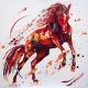Free Spirit. Oil on canvas 100cm x100cm £2250