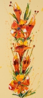 SOLD. Flower 16, Oil on Canvas 45x100cm.