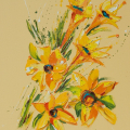Flower 6, Oil on Canvas 55x70cm £1495