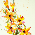 SOLD. Flower 14, Oil on Canvas 55x70cm.
