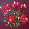 SOLD. Flower 20, Oil on Canvas 60x60cm