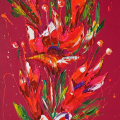 SOLD. Flower 5. Oil on canvas 60x120cmcm.