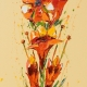 Flower 16, Oil on Canvas 45x100cm. Sold