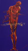 Jesus is Condemned. Oil on Canvas 90x180cm