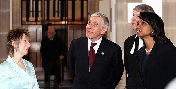 Jack Straw and Condoleeza Rice